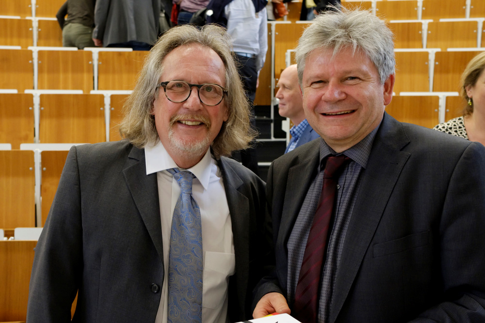 Prof. Thomas Steinmüller mit Harald Martenstein